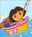Dora the Explorer Fishing Boat