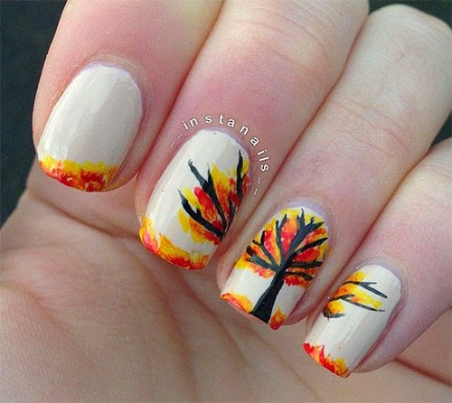 Autumn Nail Design 7