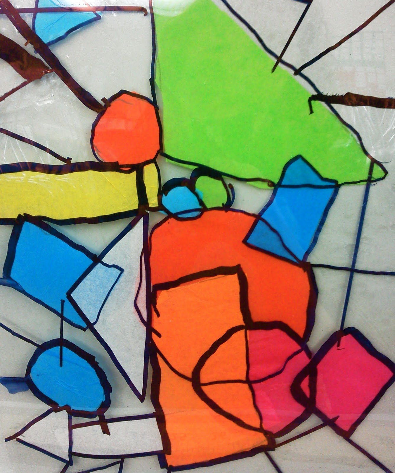 Candice ashment art artpalooza week day 1 stained for Stained glass window craft with tissue paper