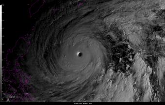Image visible du super typhon Vongfong
