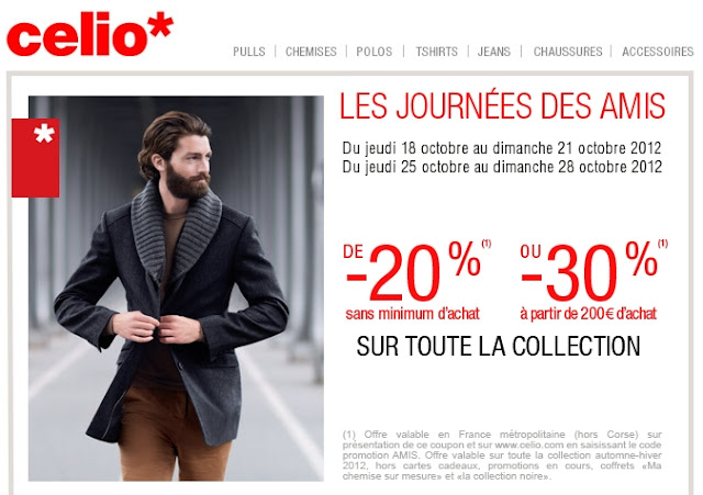 Celio: -20% sans minimum d'achat