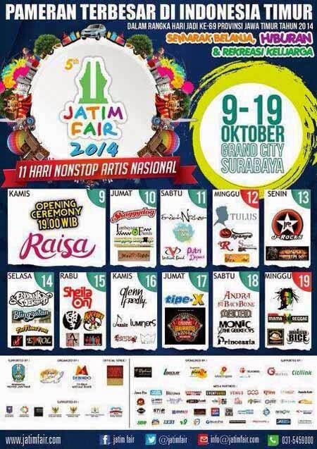 Jadwal Konser Musik Jatim Fair 2014