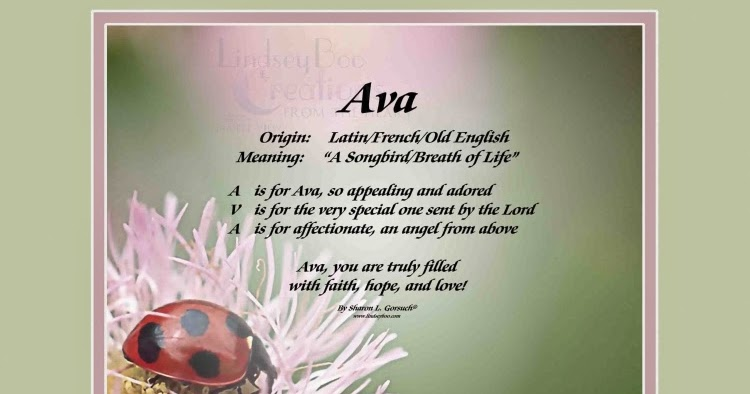The Daily Boo: Ava - Name Meaning & History