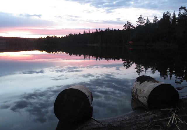 Solnedgång Rännarsjön
