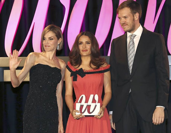 Queen Letizia honors conductor Inma Shara, doctor María Neira and actress Salma Hayek with the Premios Woman awards related to the women's magazine Woman Madame Figaro