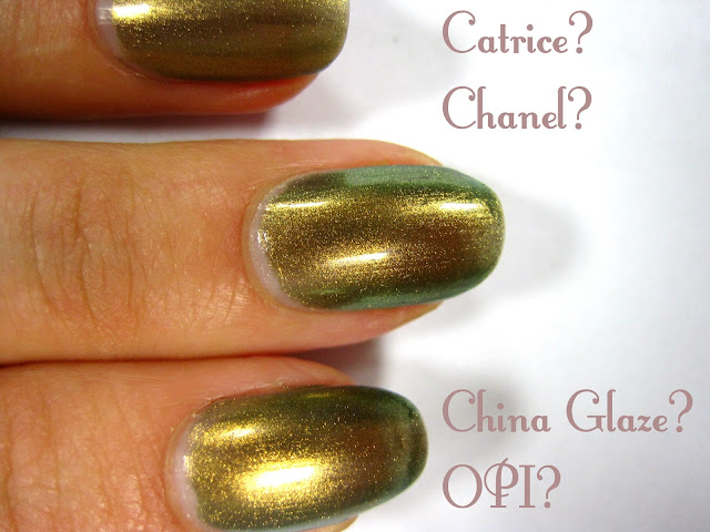 chanel peridot catrice genius in a bottle opi just spotted the lizzard china glaze rare and radiant swatch