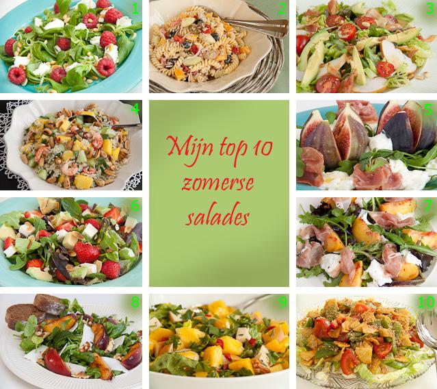 gemengde salade bijgerecht