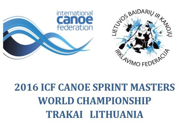 2016 ICF CANOE SPRINT MASTERS WORLD CHAMPIONSHIP. TRAKAI (LITUANIA)