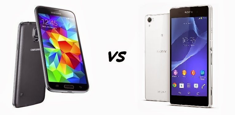 Samsung Galaxy S5    VS   Sony Xperia Z2
