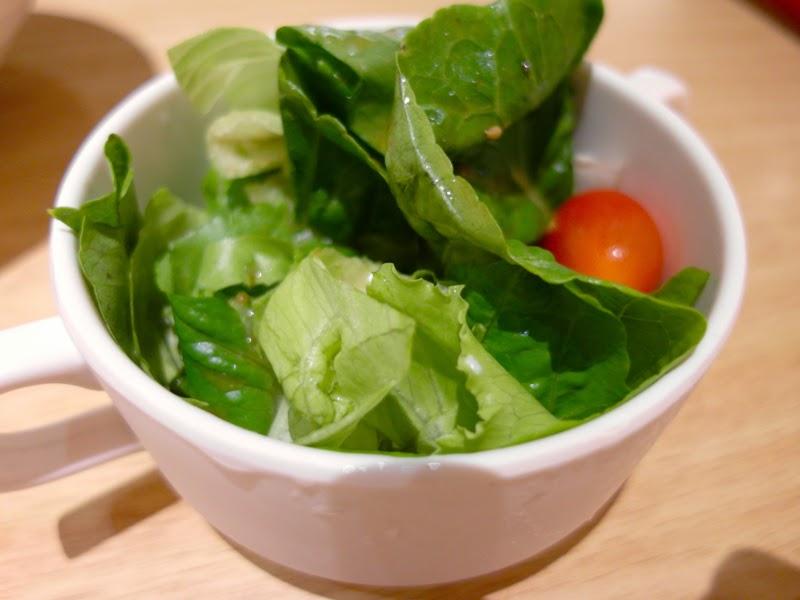 Pasta De Waraku Restaurant Changi Airport Terminal 2 Japanese Food Mini Salad Review lunarrive blog Singapore
