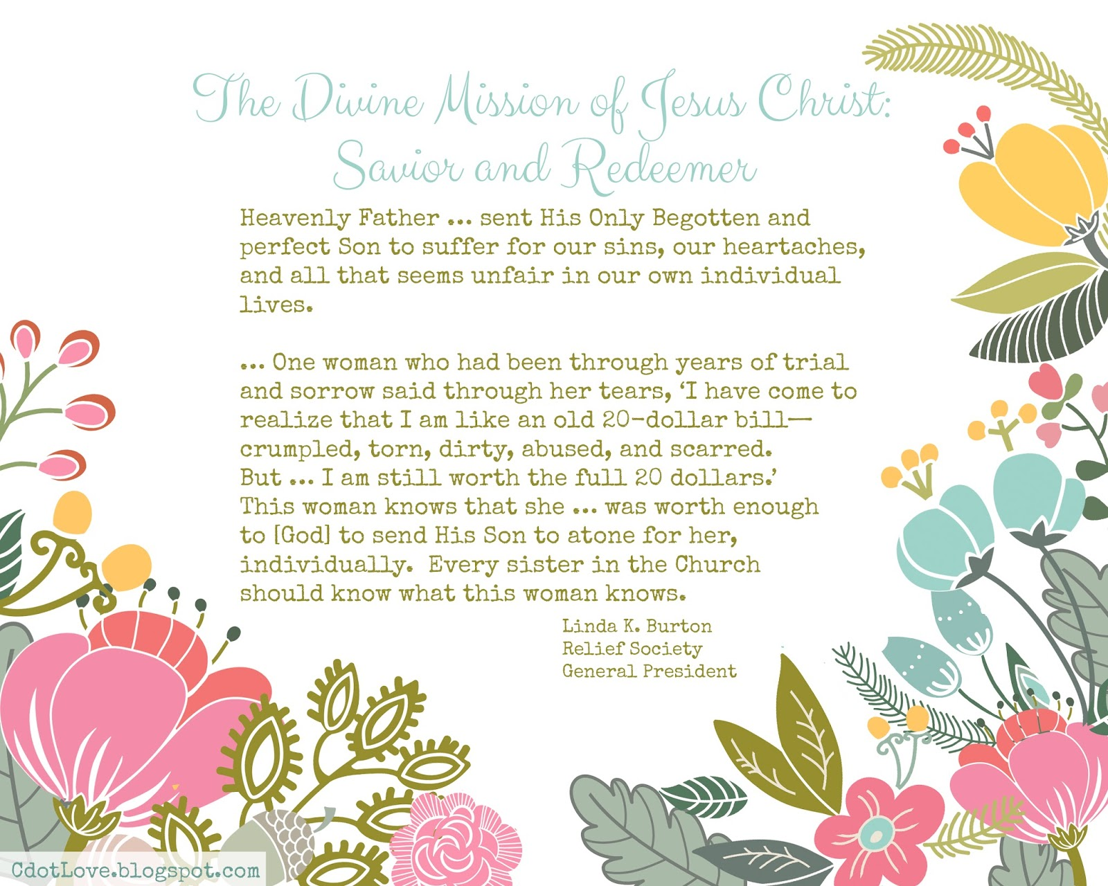Cdotlove design by kristin clove april visiting teaching easter is coming thoughts turn to our savior and his mission on earth and great gift of the atonement negle Choice Image