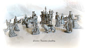 B PEWTER MINI SET (12) KNIGHT CASTLE , DRAGON ,WIZARD, HORSE