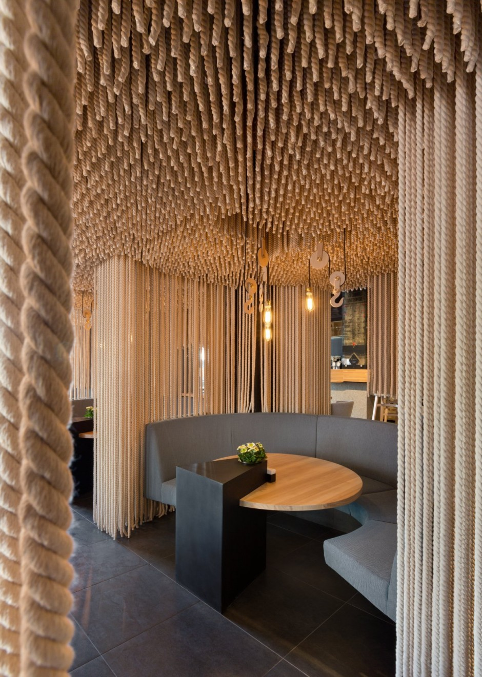 Attractive Restaurant Decor in Kiev by YOD Design Studio