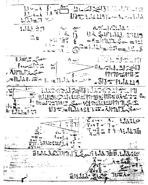Egyptian A'h-mosè or Rhind Papyrus