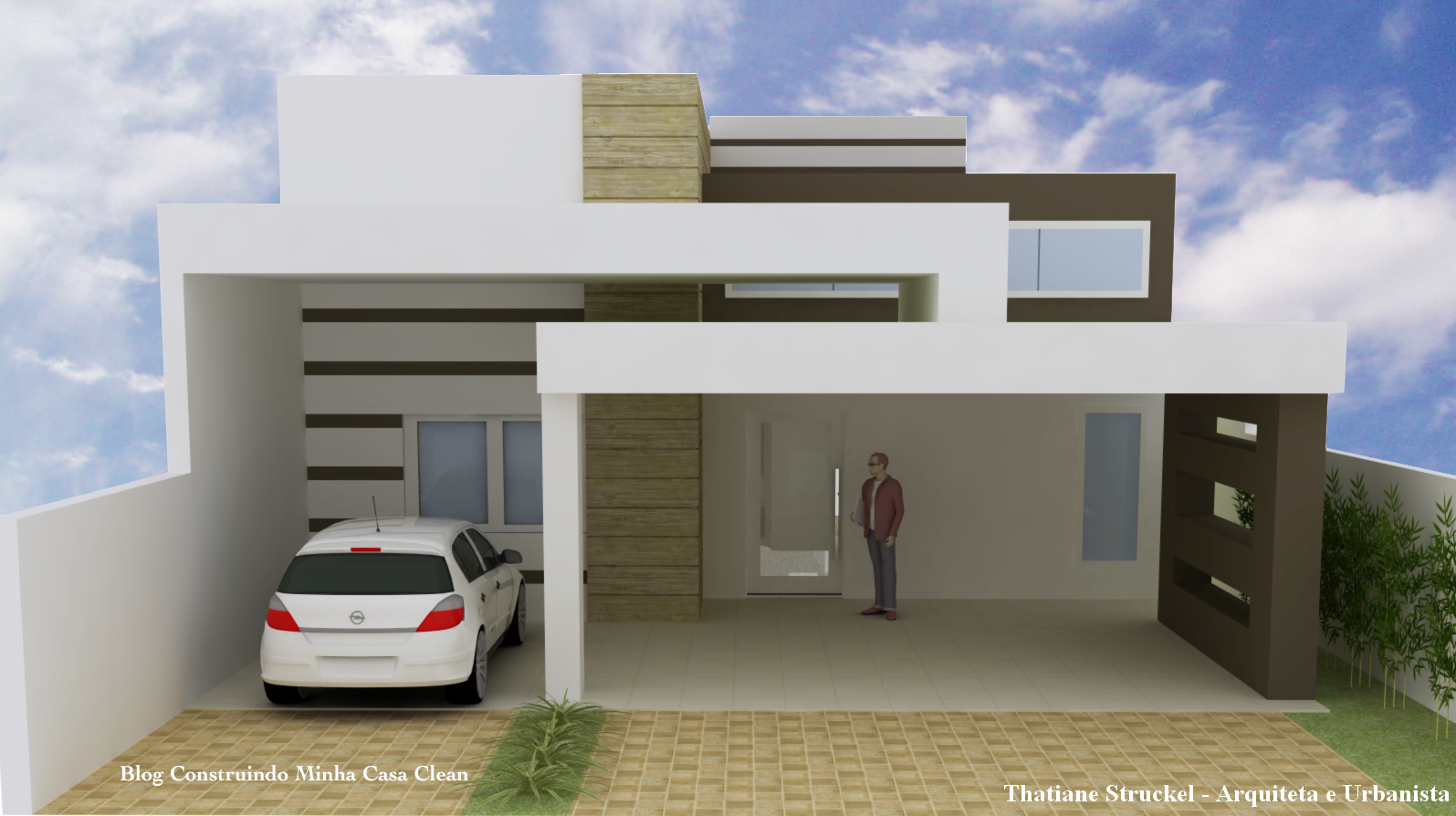Construindo minha casa clean fachadas de casas modernas for Casas modernas lindas