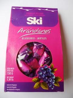 caramelos ski de arándanos