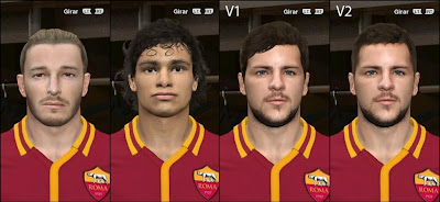 PES 2014 AS Roma Facepack #3 by godra94