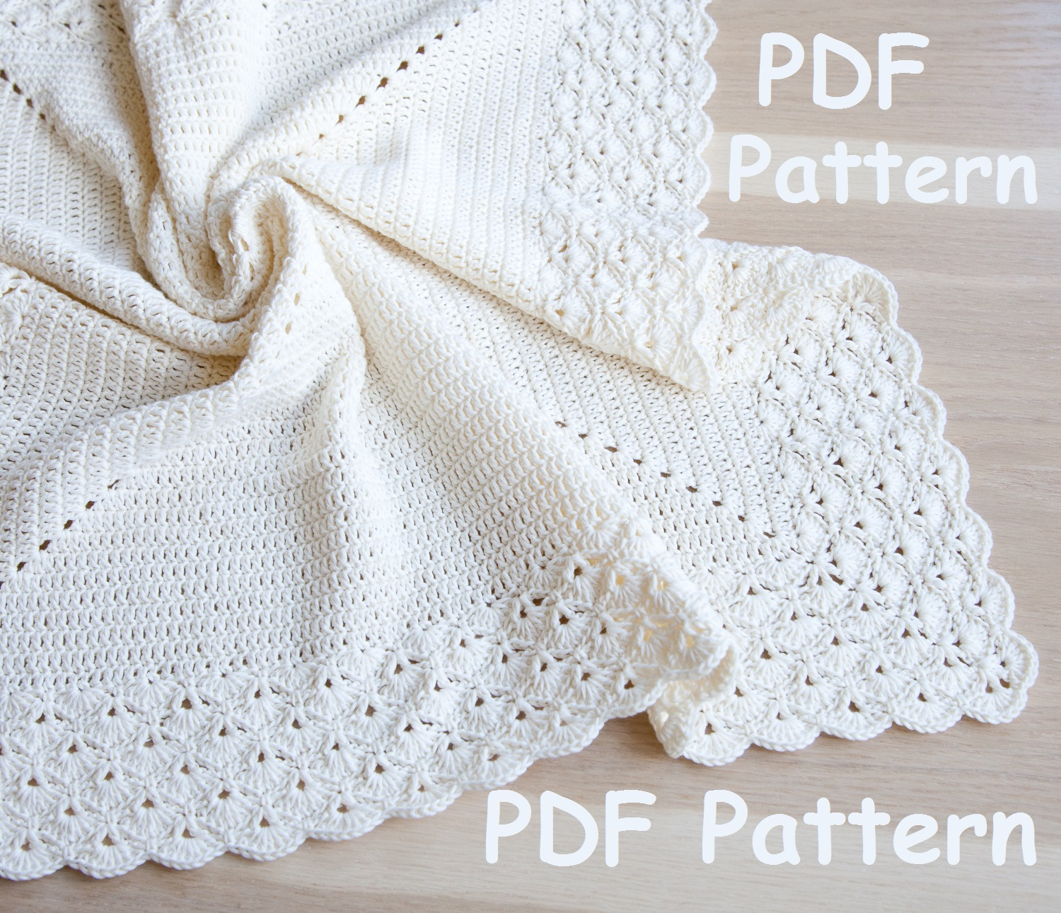 Sasha Patterns: Crochet baby blanket with lacy border pattern ...