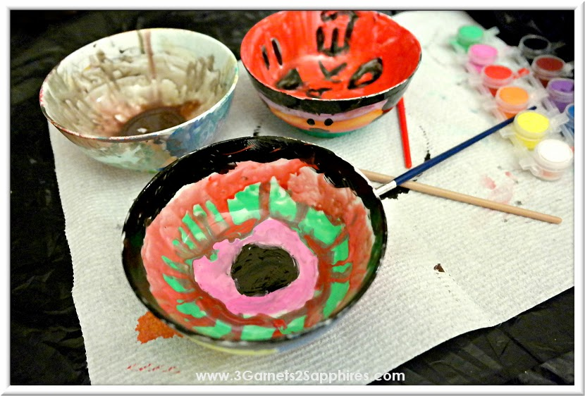 Brilliance Award Winning Toy  |  Paint Your Own Porcelain Bowls  |  www.3garnets2sapphires.com
