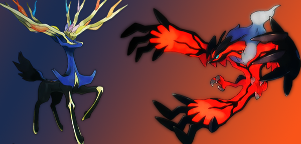 Pokemon Xerneas and Pokemon Yvelta