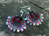 How to Make Hoola Hoop Earrings with Peyote Stitch