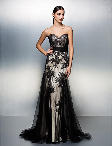 Vestido de Noche Negro de Tul
