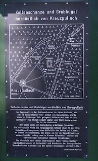 Informationstafel zur Keltenschanze bzw. keltische Viereckschanze Kreuzpullach