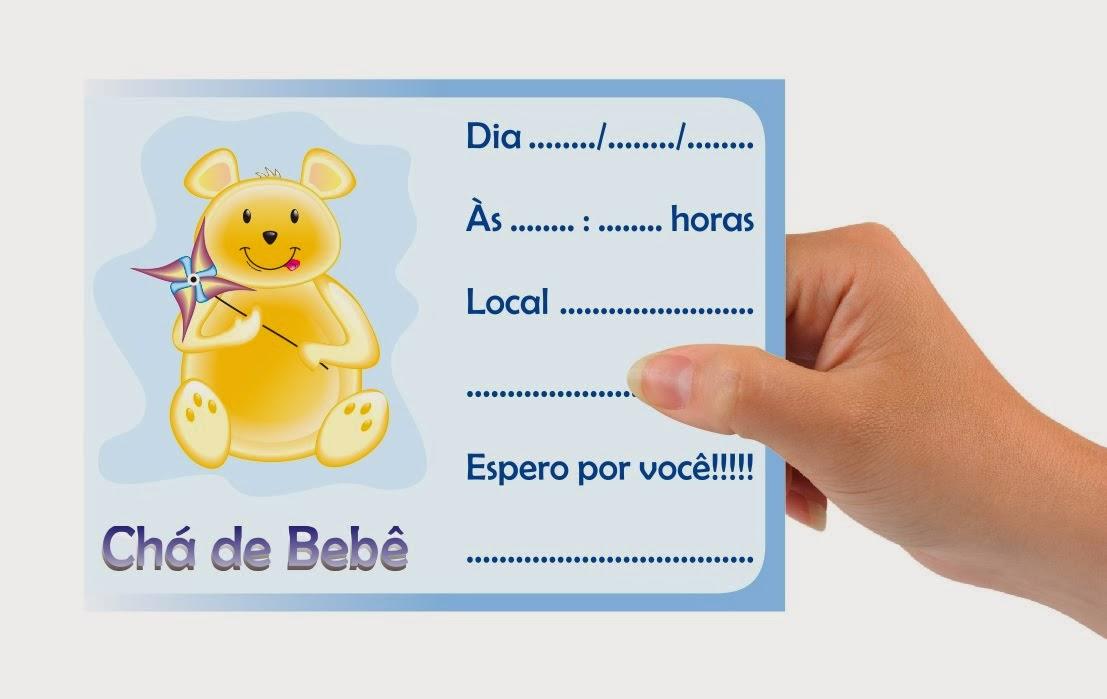 Convites para chá de bebê de menino 6