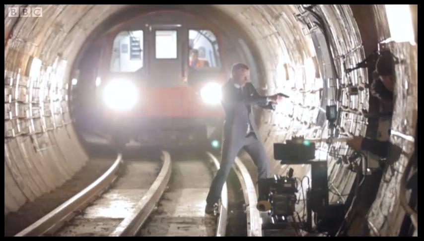 Dreharbeiten von Skyfall: Im Tunnel