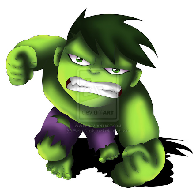 The Hulk Chibi por ExoroDesigns