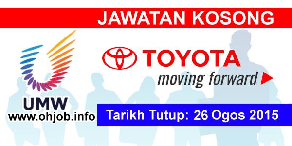 Jawatan Kerja Kosong UMW Toyota Motor logo www.ohjob.info ogos 2015