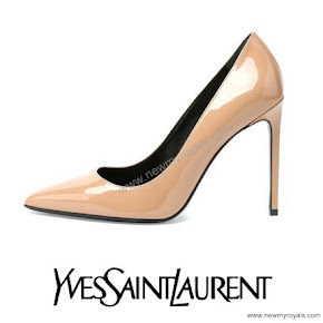 Princess Sofia Style Saint Laurent Paris Patent Leather Pump