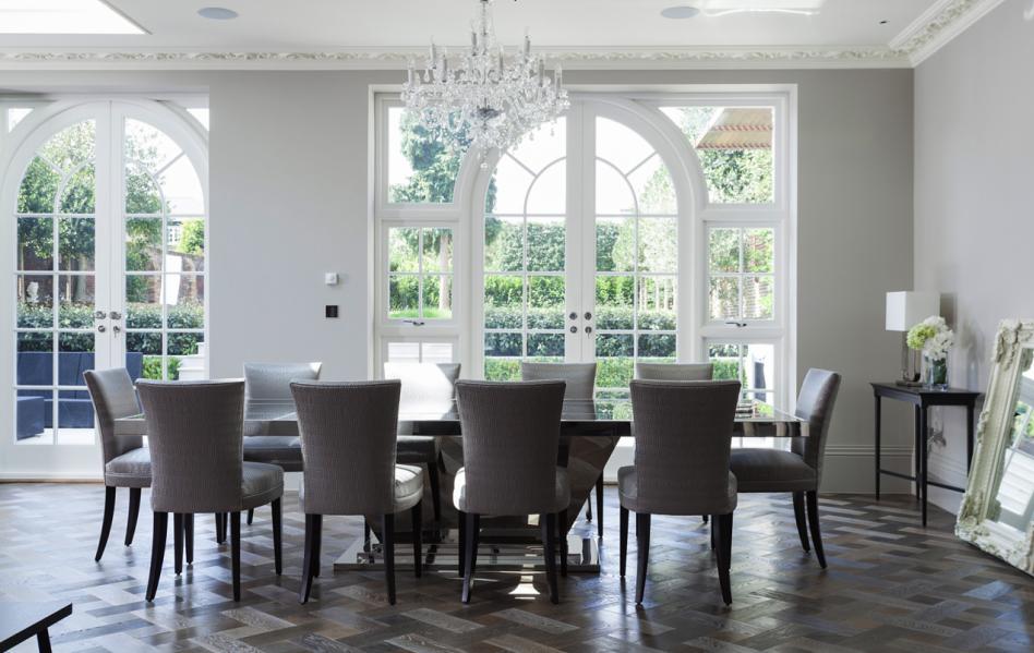 Tabula rasa london suburb house with good bones nbaynadamas furniture and interior - French doors in dining room interior design ...