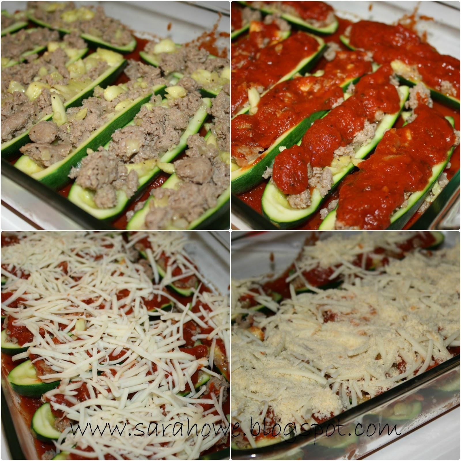 Sara's Home Life: Sausage Stuffed Zucchini Boats