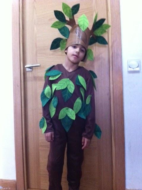 mamá lo hace: Disfraz de Arbol casero