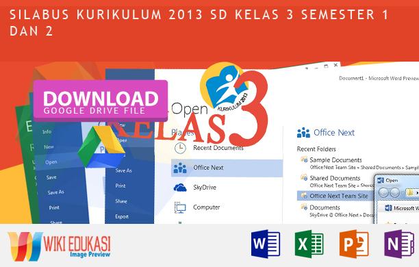Silabus Kurikulum 2013 Kelas 3 Terbaru 2015 2016 Wiki Edukasi