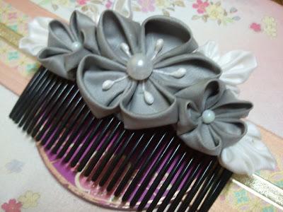Ume, kanzashi, hair comb, Malaysia, plum blossom