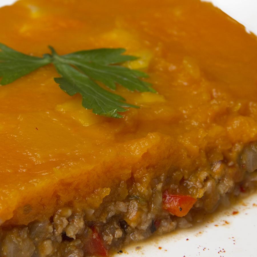 Men light pastel de carne y calabaza - Pure de patatas y calabaza ...