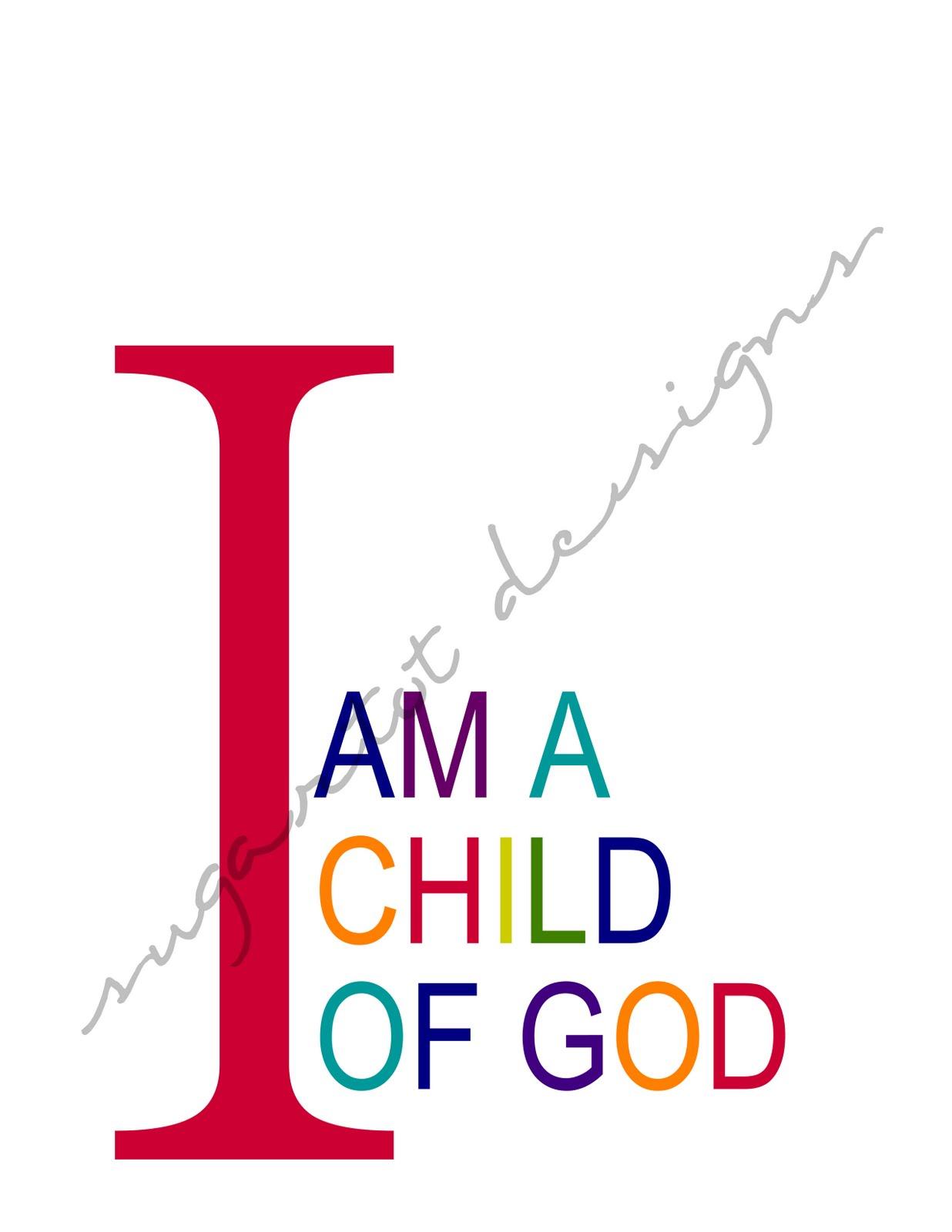 sugartotdesigns i am a child of god prints