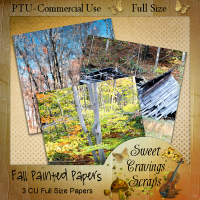 Free scrapbook Fall Painted Papers from Sweet Cravings- Commercial Use