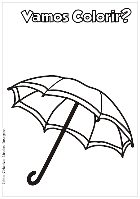 Guarda-Chuva desenho para colorir