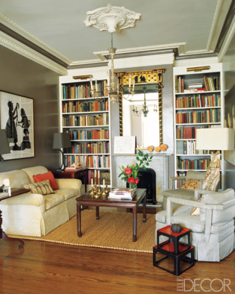 Modern Living Room San Francisco Best Interior Design 12: Design In The Woods: Bookcases As Architectural Features