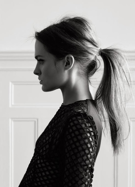 girls with ponytail via belle vivir blog  Ponytail