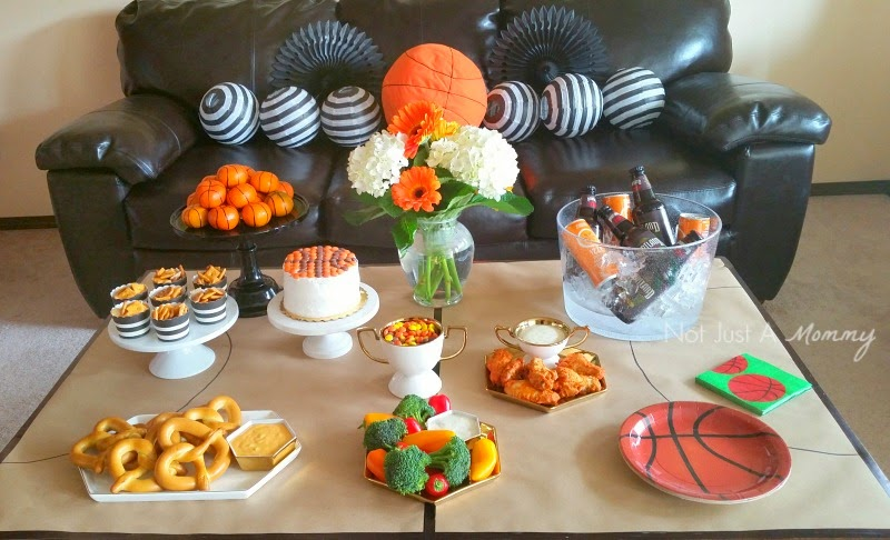 March Madness Basketball Party Table