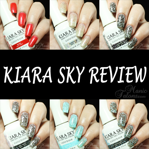 Manic Talons Nail Design Kiara Sky Two Step Gel Polish Review