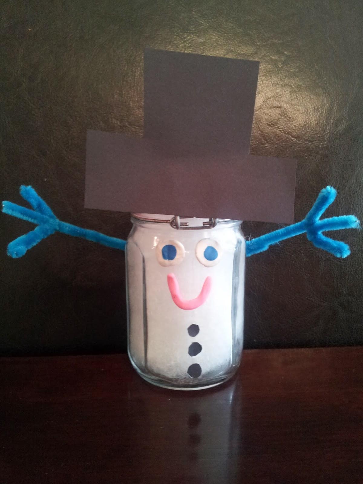 Glass Jar Snowman Craft, Christmas crafts, crafts, kids crafts