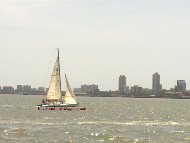 Yacht - On the way from Mandwa to Gateway of India ferry ride