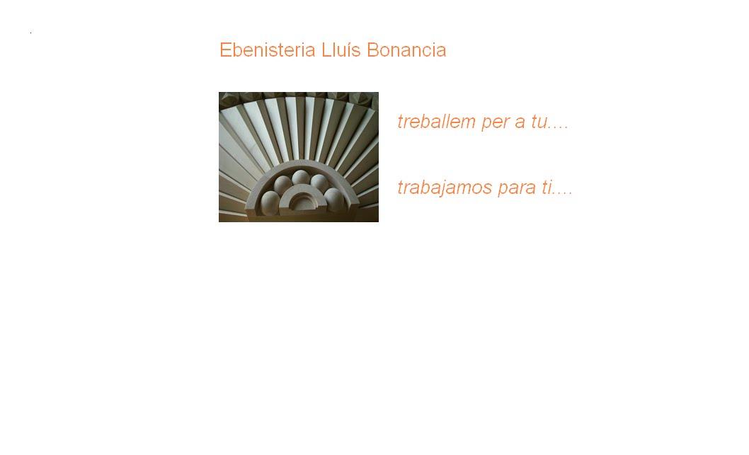EBENISTERIA LLUIS BONANCIA