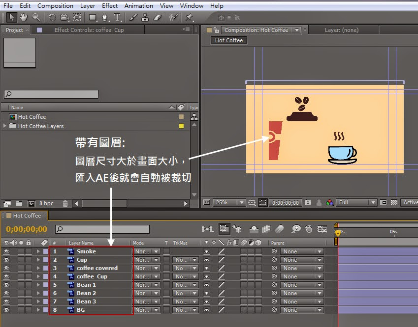 Importing PSD、AI、Sequence and aep Files in AE 08