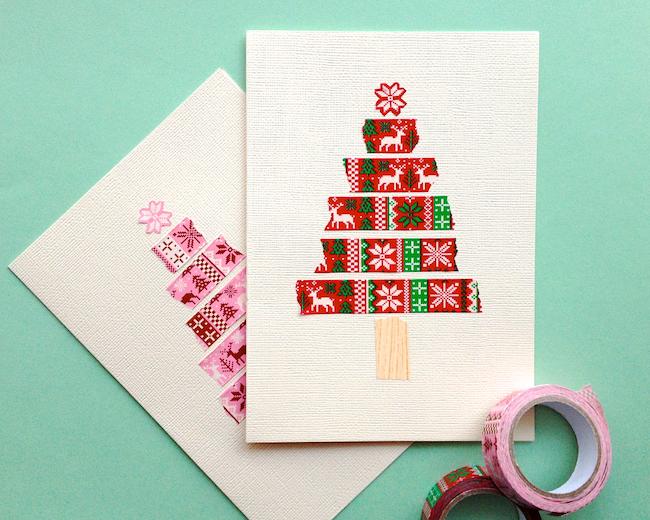 Omiyage blogs simple christmas cards for Simple xmas card ideas